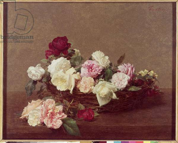 A Basket of Roses, 1890 (oil on canvas)