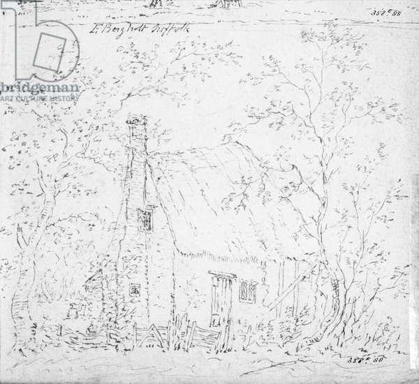 Cottage at East Bergholt (drawing)