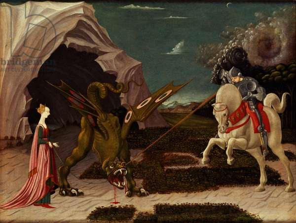 St. George and the Dragon, c.1470 (oil on canvas)