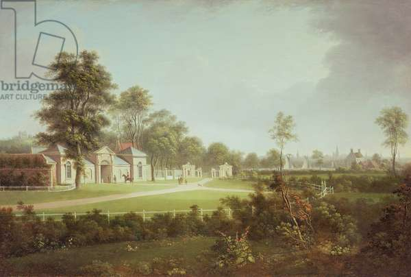 Annefield with Glasgow beyond, c.1800 (oil on canvas)