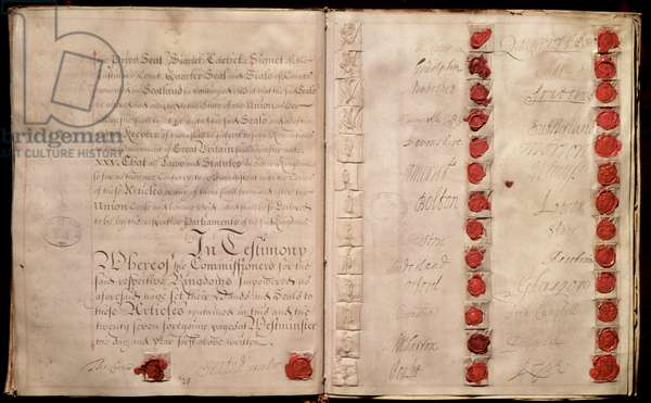 Articles of Union between England and Scotland from the House of Lords record office, 1707