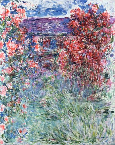 The House at Giverny under the Roses, 1925 (oil on canvas)