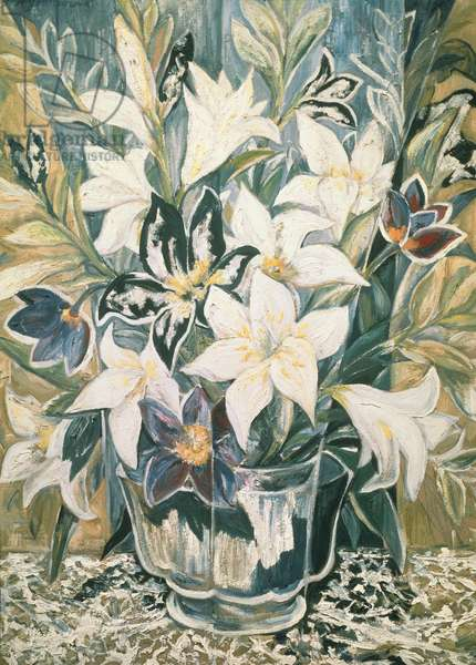 Lilies (oil on canvas)