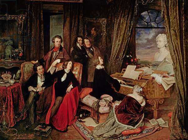 Liszt at the Piano, 1840 (oil on canvas)