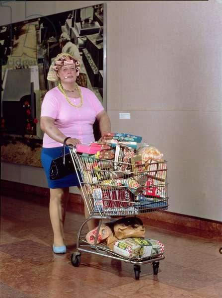 Supermarket Shopper, 1970 (polyester resin figure and various media)