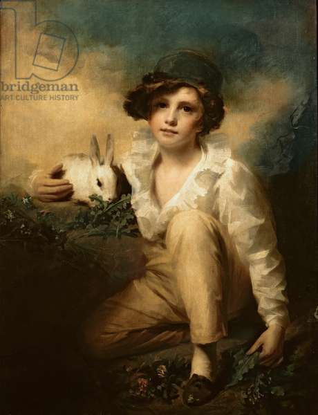 Boy and Rabbit, c.1814 (oil on canvas)