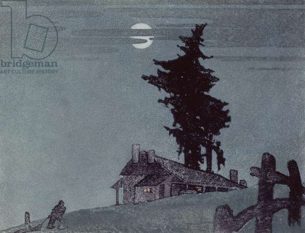 The Homestead, 1937 (linocut)