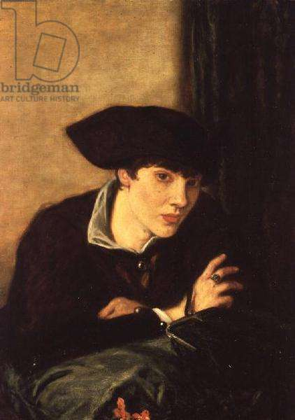The Lady in a Black Hat, portrait of Miss Rachel Castellan, 1915 (oil on canvas)