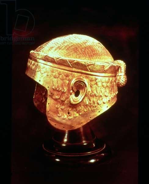 Electrum Helmet of King Mes-Kalem-Dug, c.2500-2400 BC (beaten gold) (see also 161987)