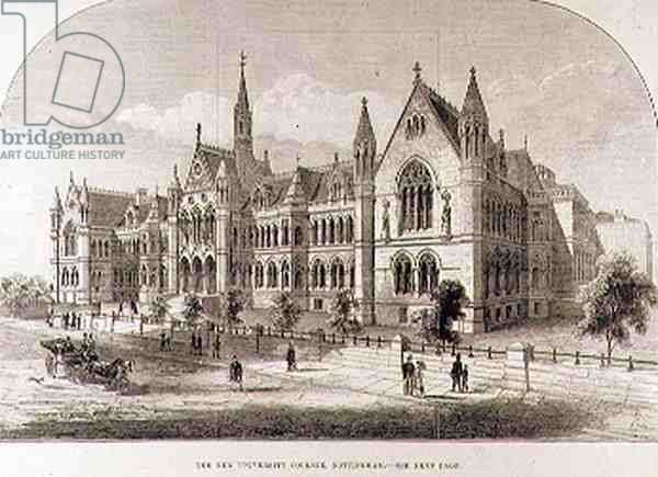 The New University College, Nottingham, from 'The Illustrated London News', 7th February 1881 (engraving)