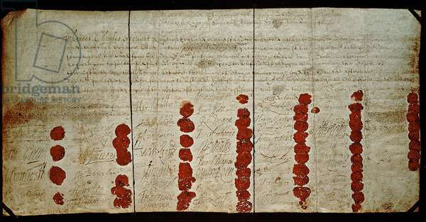 Death warrant of Charles I (1600-49) 29th January 1648 (actually 1649)
