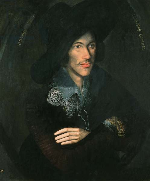 Portrait of John Donne, c.1595 (oil on canvas)