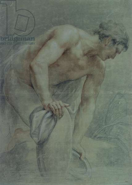 Figure of a Warrior, partly draped, 18th century (drawing)