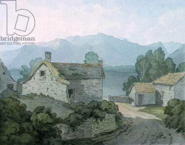 On Ullswater, Cumberland, 1791 (w/c on paper)