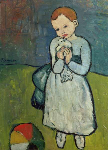 Child with a Dove, 1901 (oil on canvas)