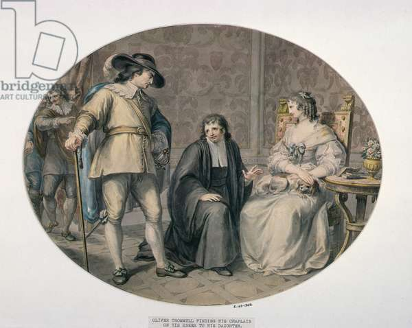 Oliver Cromwell discovering his Chaplain, Jeremiah White, on his Knees before his youngest Daughter, Frances