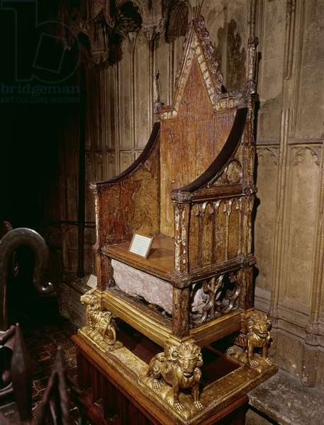 Coronation chair made for Edward I by 'Walter', 1300-01 (wood)