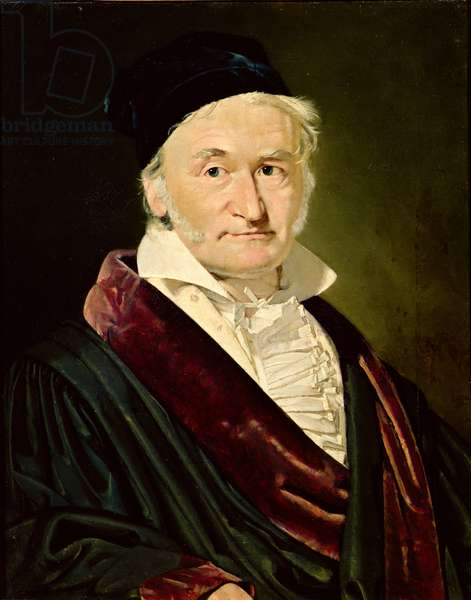 Portrait of Carl Friedrich Gauss, 1840 (oil on canvas)
