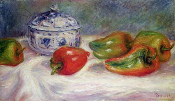 Still life with a sugar bowl and red peppers, c.1905 (oil on canvas)