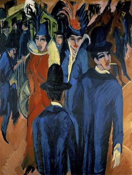 Berlin Street Scene, 1913 (oil on canvas)