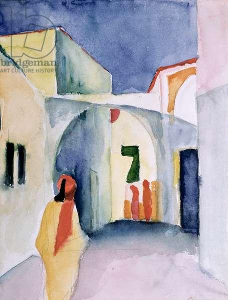 A Glance Down an Alley (w/c)