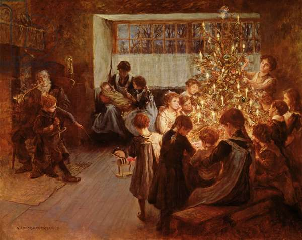 The Christmas Tree, 1911 (oil on canvas)