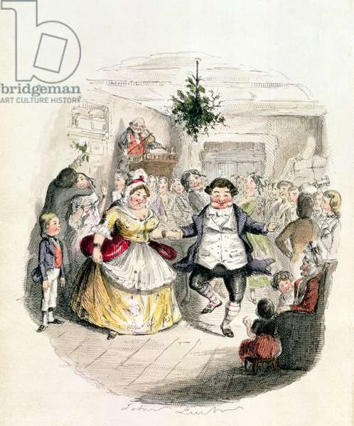 Mr Fezziwig's Ball, from 'A Christmas Carol' by Charles Dickens (1812-70) 1843 (engraving)