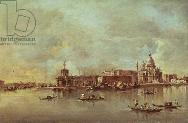 Santa Maria della Salute seen from the mouth of the Grand Canal, Venice (oil on panel)