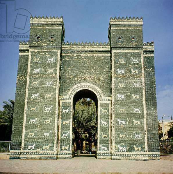 The Ishtar Gate, Babylonian, c.580 BC (photo)