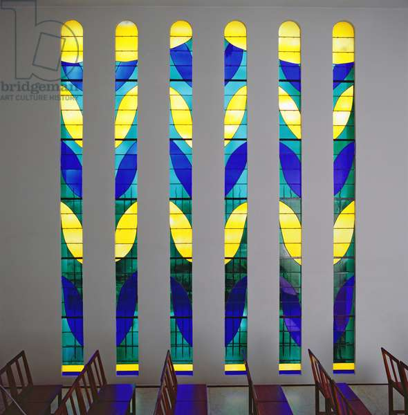 Stained Glass in the Chapel of the Rosary at Vence, 1948-51 (stained glass)