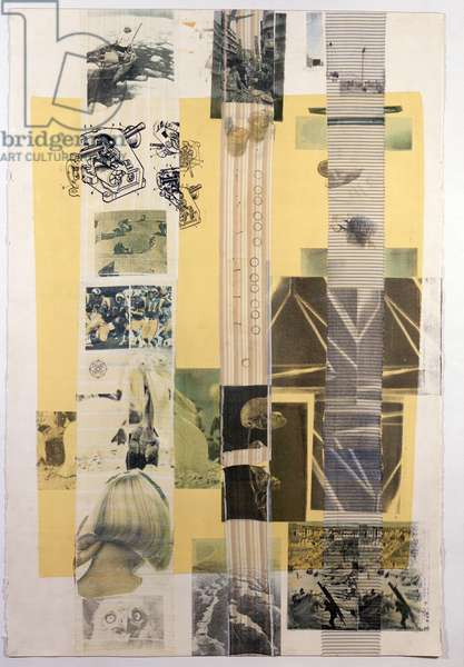 Urban Ointment (Slide), 1979 (solvent transfer and fabric collage on paper)