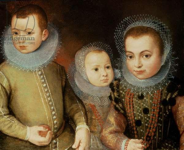 Portrait of Three Tudor Children