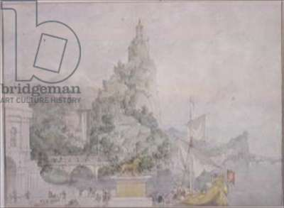 Landscape Composition: Study for a Drop-Scene for the Theatre at Broadmoor Asylum