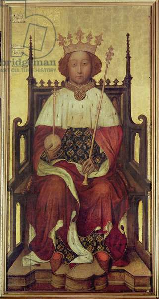 Portrait of Richard II 'The Westminster Portrait', 1390s (oil on panel)