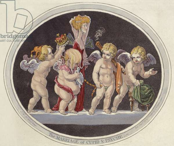 The Marriage of Cupid & Psyche, 1797 (hand-coloured engraving)