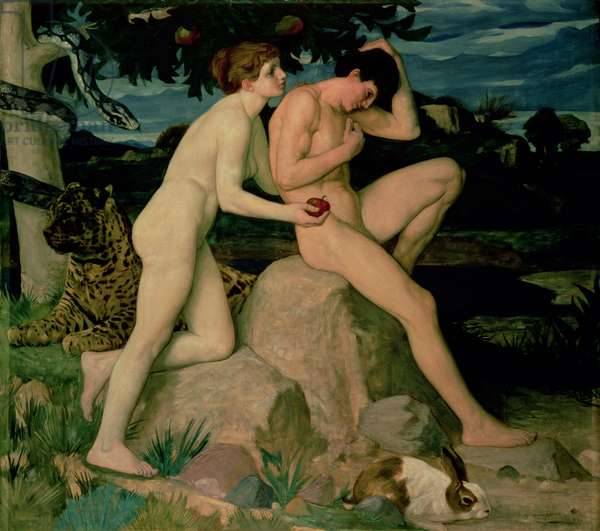 The Temptation, 1899 (oil on canvas)