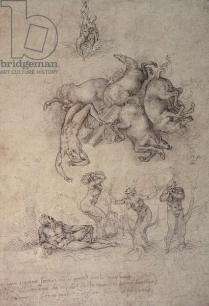 The Fall of Phaethon, 1533 (pencil on paper)
