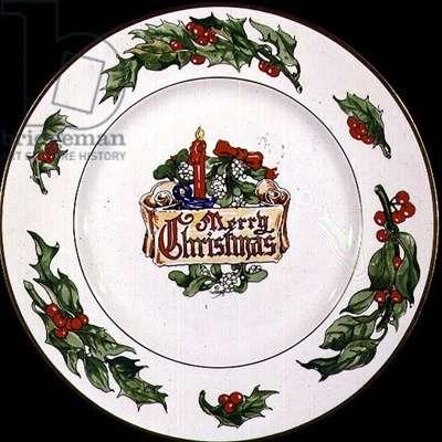 Christmas Plate, British, 20th century