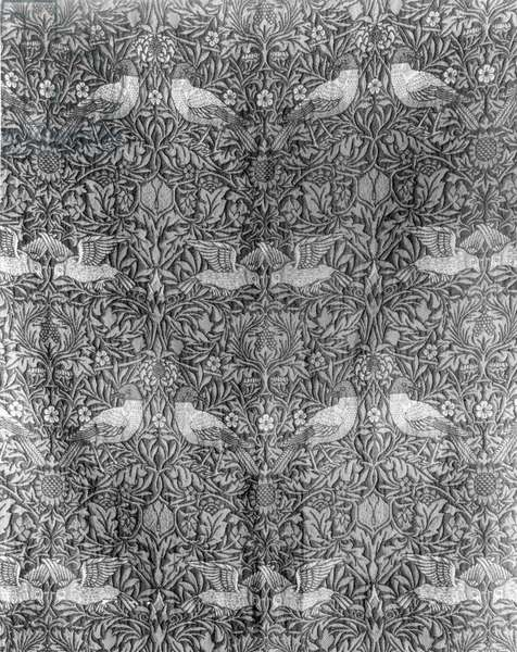 'Bird' design by William Morris (1834-96) (woven wool) (b/w print) (for colour image see 136483)