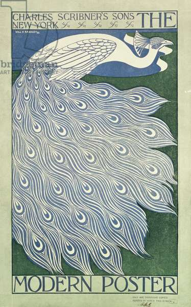 The Modern Poster (Peacock) printed by Charles Scribner's Sons, 1895 (colour litho)