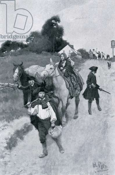 Tory Refugees on Their Way to Canada, illustration from 'Colonies and Nation' by Woodrow Wilson, pub. Harper's Magazine, 1901 (litho)