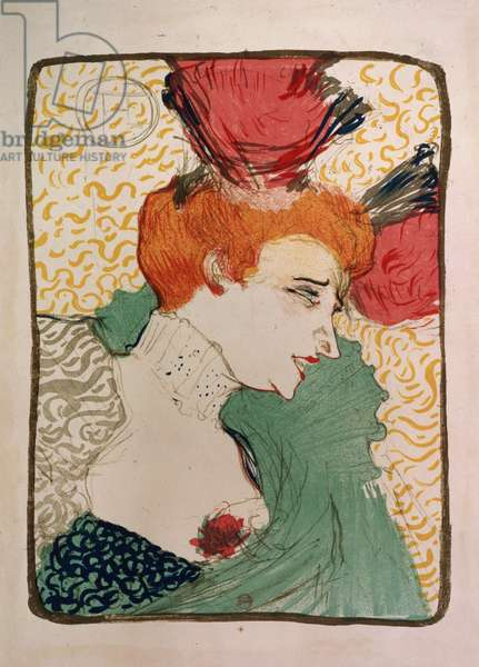 Mademoiselle Marcelle Lender, 1895 (litho and w/c) (proof of 7012)