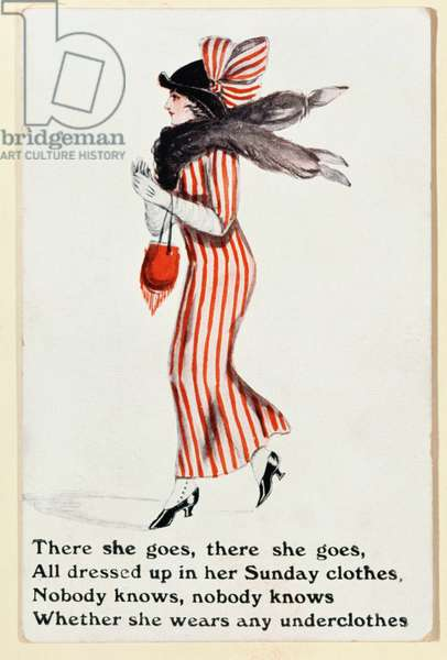 'There she goes', postcard, c.1918 (colour litho)