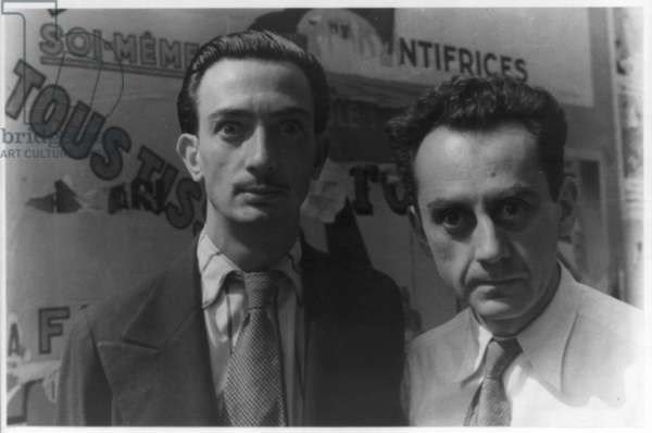 Portrait of Man Ray and Salvador Dali, Paris, 1934 (gelatin silver print)