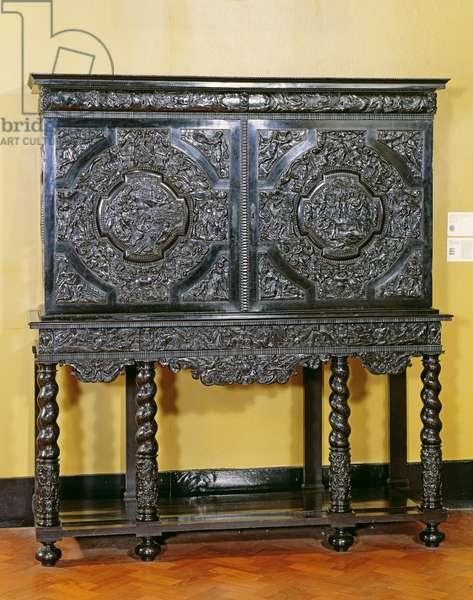 Endymion cabinet, French, c. 1650 (ebony, on an oak and pine carcase)