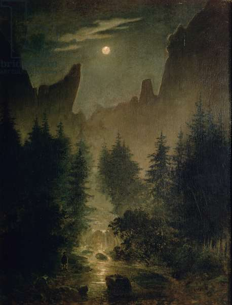 Uttewalder Grund, c.1825 (oil on canvas)