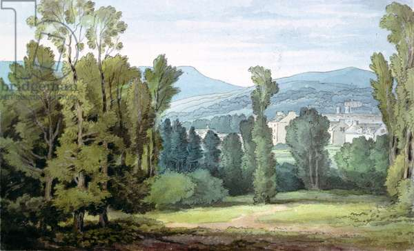 Dulverton, Somerset, 1800 (w/c on paper)
