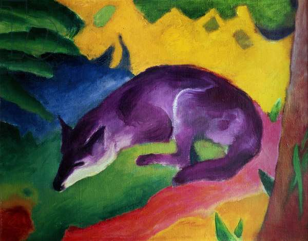 Blue Fox, 1911 (oil on canvas)