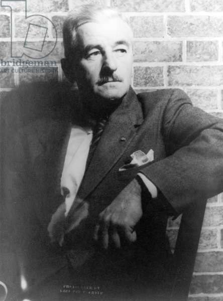 William Faulkner (1897-1962) 11th December 1954 (gelatin silver print)