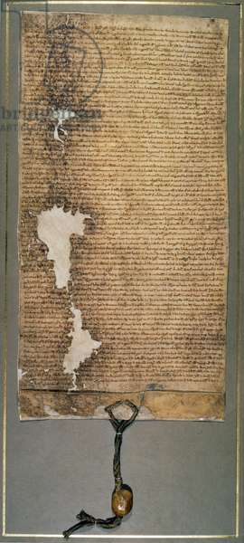 Magna Carta, the final version issued in 1225 by Henry III (vellum)